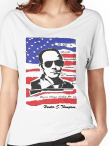 Hunter .S. Thompson. Women's Relaxed Fit T-Shirt