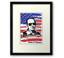 Hunter .S. Thompson. Framed Print