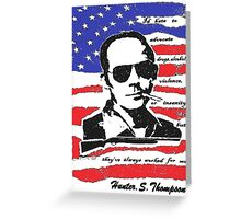 Hunter .S. Thompson. Greeting Card