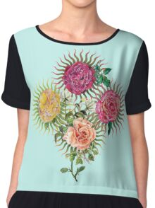 Heavenly Roses Chiffon Top