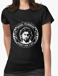 Snake Plissken (doesn't give a shit) Womens Fitted T-Shirt
