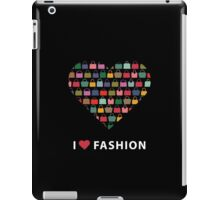 Colorful silhouettes women's handbags in Compositionof heart iPad Case/Skin