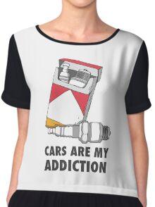 Cars are my addiction Chiffon Top