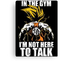 Super Saiyan Goku Gym - RB00553 Canvas Print