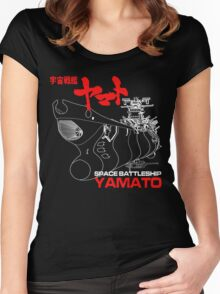 NEW STAR BLAZERS SPACE BATTLESHIP YAMATO JAPAN RETRO ANIME MANGA Women's Fitted Scoop T-Shirt