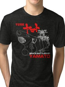 NEW STAR BLAZERS SPACE BATTLESHIP YAMATO JAPAN RETRO ANIME MANGA Tri-blend T-Shirt