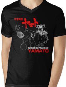 NEW STAR BLAZERS SPACE BATTLESHIP YAMATO JAPAN RETRO ANIME MANGA Mens V-Neck T-Shirt