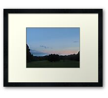 Sunset & Shade Tree Framed Print