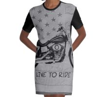 Live to Ride Graphic T-Shirt Dress