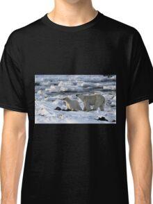 Polar Bear & Cub Tasting the Air, Churchill, Canada Classic T-Shirt