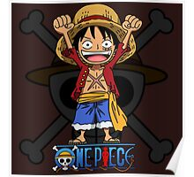Luffy Hands up Poster