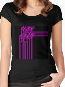 Lines #11 Women's Fitted Scoop T-Shirt