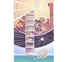 Tower of Animals in the Sea Photographic Print