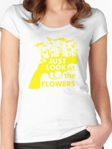Just Look at the Flowers Women's Fitted Scoop T-Shirt