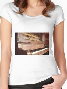 Old Time Piano Women's Fitted Scoop T-Shirt