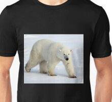 Large Male Polar Bear on the Tundra, Churchill, Canada  Unisex T-Shirt