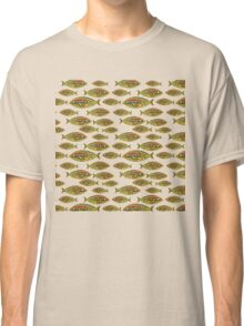 Abstract Golden Fish Pattern Classic T-Shirt