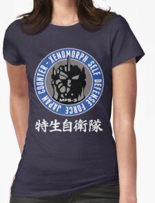 NEW MECHA GODZILLA KIRYU UNGCC JXSDF MFS-3 LOGO Womens Fitted T-Shirt