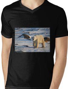 Polar Bear on the Tundra, Churchill, Canada  Mens V-Neck T-Shirt