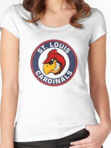 Big red Louis CARDINALS Women's Fitted Scoop T-Shirt