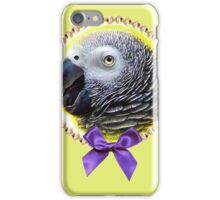 African grey parrot realistic painting iPhone Case/Skin