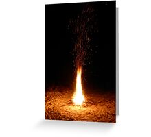 Fire over a frozen lake Greeting Card