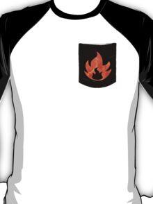 Pokemon Mondern Fire Type Pocket T-Shirt