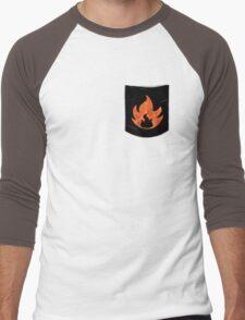Pokemon Mondern Fire Type Pocket Men's Baseball ¾ T-Shirt