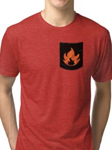 Pokemon Mondern Fire Type Pocket Tri-blend T-Shirt