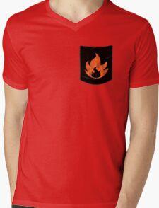 Pokemon Mondern Fire Type Pocket Mens V-Neck T-Shirt