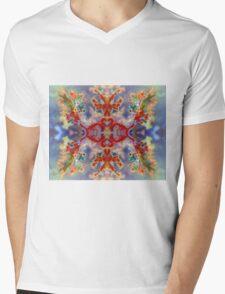Rainbow Snowflake (Plume Agate) Mens V-Neck T-Shirt
