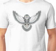 Beadwork Snowy Owl Unisex T-Shirt