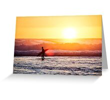 Sunset Paddle Out Greeting Card