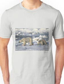 Polar Bear & Cub Walking on the Tundra, Churchill, Canada Unisex T-Shirt