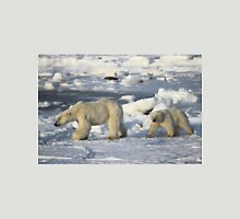 Polar Bear & Cub Walking on the Tundra, Churchill, Canada Unisex T-Shirt