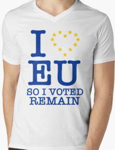 I Love EU, so I Voted Remain Mens V-Neck T-Shirt