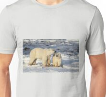 Polar Bear, Mother & Cub, Churchill, Canada  Unisex T-Shirt