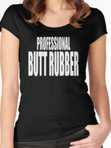 butt rubber Women's Fitted Scoop T-Shirt