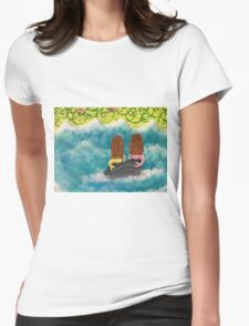 Two Little Mermaids Womens Fitted T-Shirt