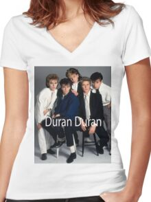 Duran Duran Vintage Cover Women's Fitted V-Neck T-Shirt