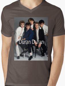 Duran Duran Vintage Cover Mens V-Neck T-Shirt