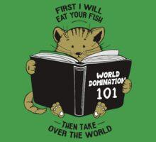 CAT WORLD DOMINATION Baby Tee