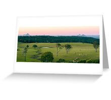 View from Dahmongah lookout in Mount Mee Greeting Card