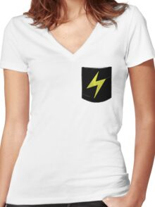 Pokemon Lightning Type Pocket Women's Fitted V-Neck T-Shirt