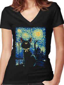 Claire de Lune Women's Fitted V-Neck T-Shirt