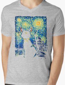 Claire de Lune Mens V-Neck T-Shirt