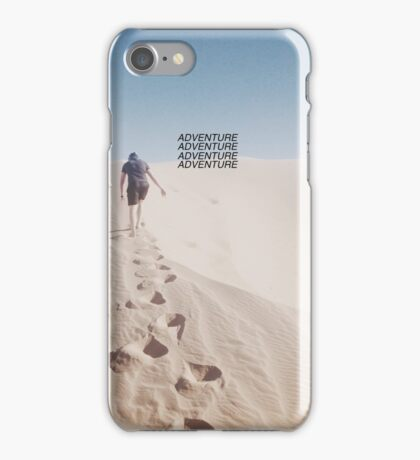 Hiking the Big Californian Sand Dune iPhone Case/Skin