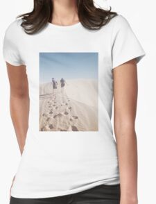 Hiking the Big Californian Sand Dune Womens Fitted T-Shirt