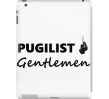 Pugilist Gentlemen Black Logo T-Shirt iPad Case/Skin