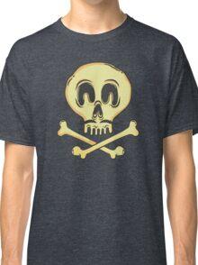 FUNNY SKULL MUSTACHE Classic T-Shirt